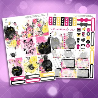 Cats Two Sheet Weekly Planner Sticker Kit