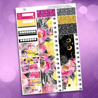 Cats Washi and Date Cover Stickers