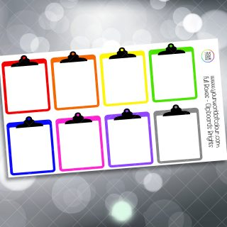 Clipboard Full Box Planner Stickers - Brights