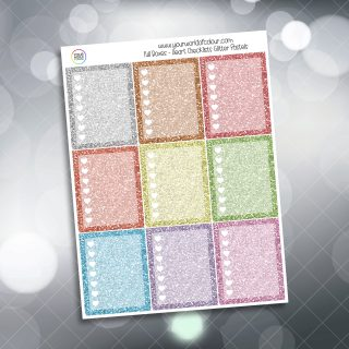 Heart Checklist Full Box Planner Stickers