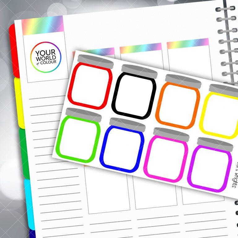 Mason Jar Planner Stickers