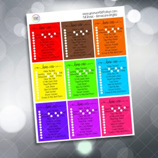 Homecare Planner Stickers