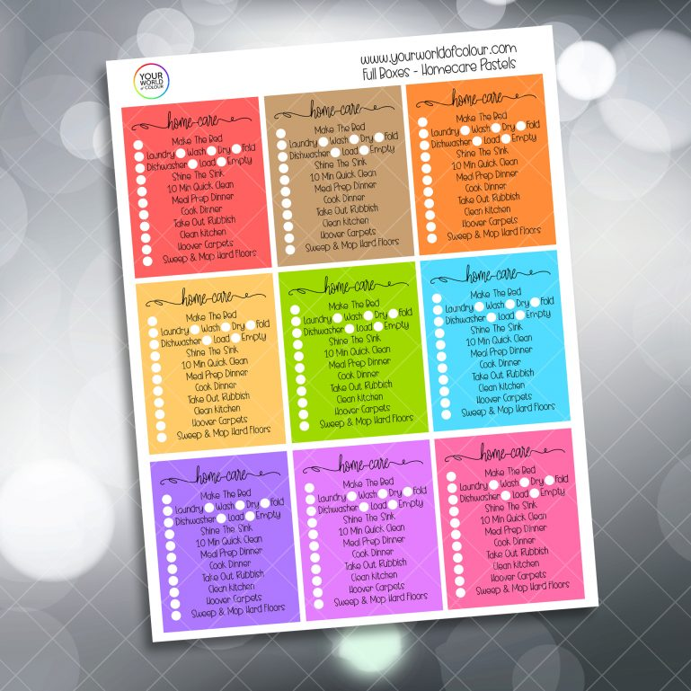 Home care Planner Stickers