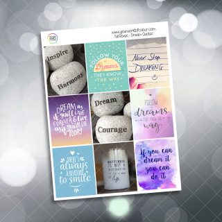 Dream Quotes Full Box Planner Stickers