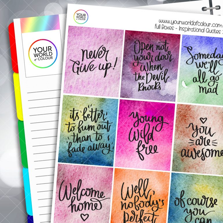 Inspirational Quotes Planner Stickers
