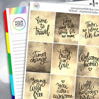 Inspirational Quotes Full Box Planner Stickers - Version Six