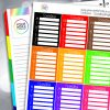 Spending Tracker Full Box Planner Stickers - Brights