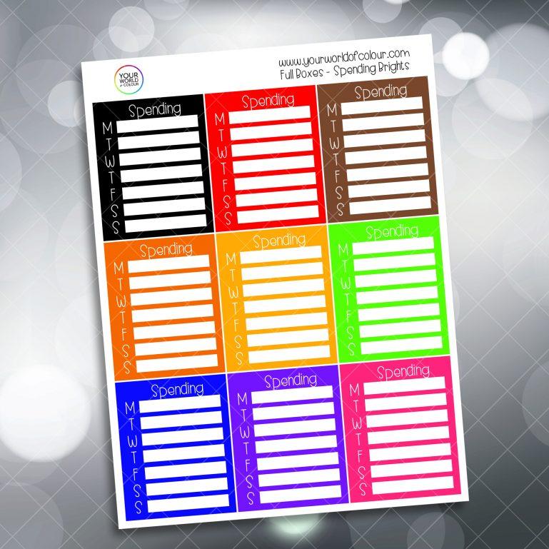 Spending Tracker Full Box