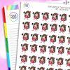 Selfie Iris Character Planner Stickers