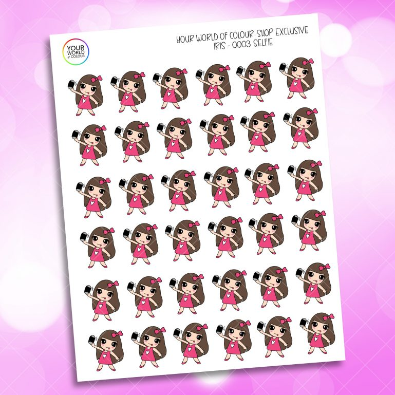 Selfie Character Planner Stickers
