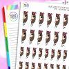 Peek-a-boo Iris Character Planner Stickers