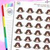 Peeking Iris Character Planner Stickers