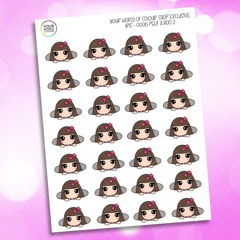 Peeking Character Planner Stickers