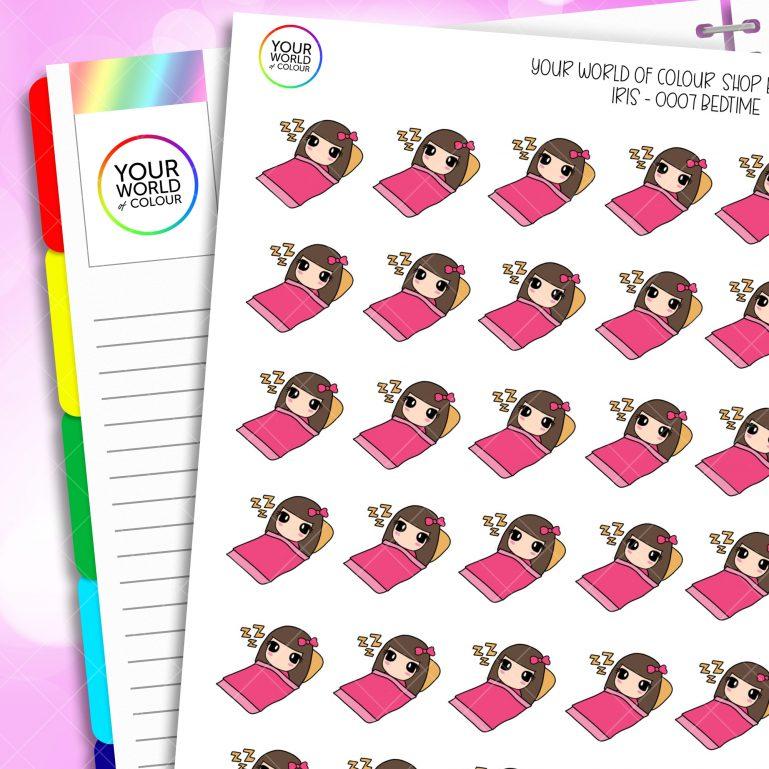 Bedtime Iris Character Planner Stickers