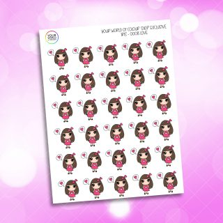 Love Bubble Iris Character Planner Stickers