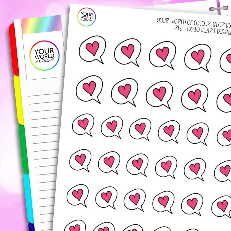 Iris's Heart Speech Bubble Planner Sticker
