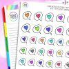 Rainbow Iris's Heart Speech Bubble Planner Stickers