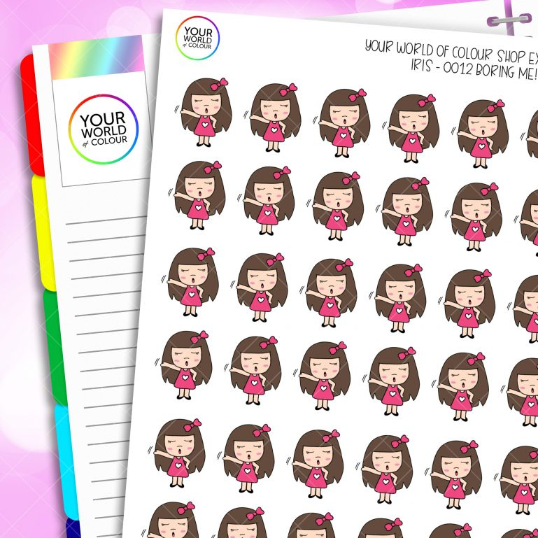 Boring Me Character Planner Stickers