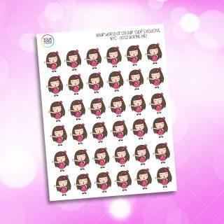 Boring Me Iris Character Planner Stickers