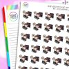 Working Late Iris Character Planner Stickers