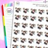 Working Early Iris Character Planner Stickers