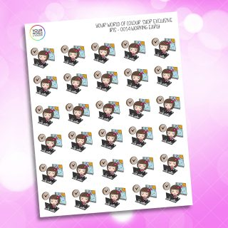 Working Early Character Planner Stickers