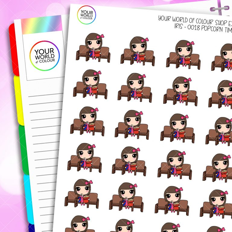 Popcorn Character Planner Stickers