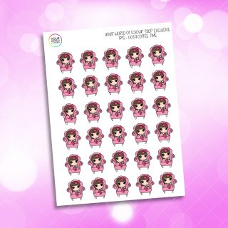 Coffee Time Iris Character Planner Stickers