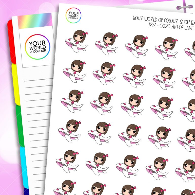 Aeroplane Character Planner Stickers