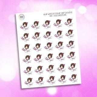 Aeroplane Iris Character Planner Stickers