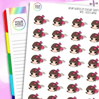 Urgh Iris Character Planner Stickers