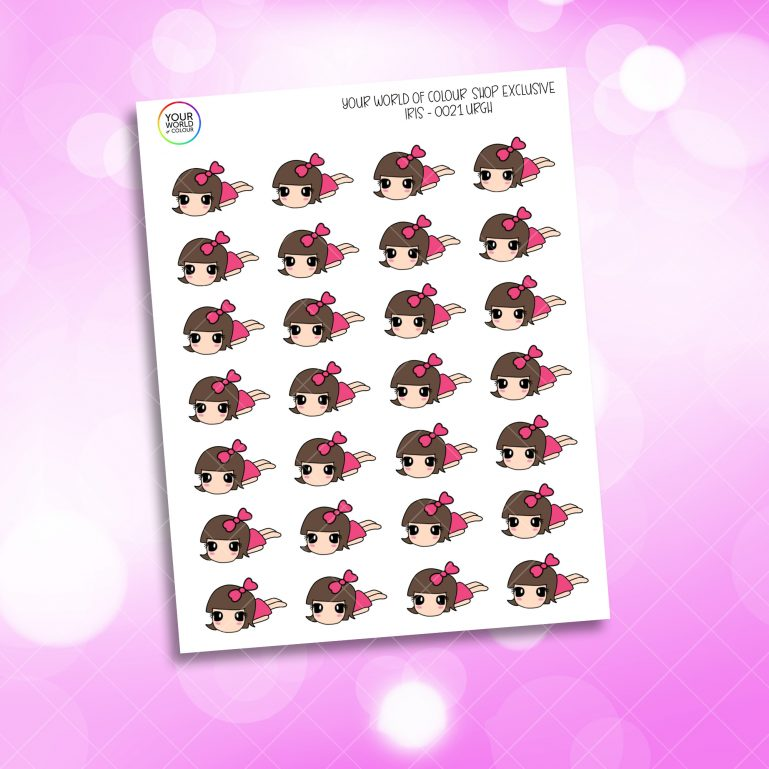 Iris Character Planner Stickers