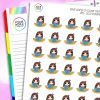 Reading Book Iris Character Planner Stickers