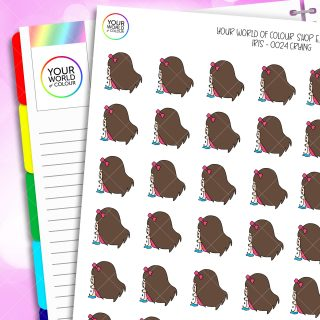 Crying Iris Character Planner Stickers