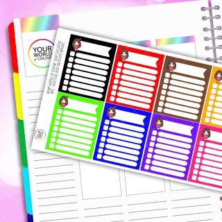 Full Box Iris Character Planner Stickers