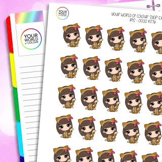 Kitty Iris Character Planner Stickers