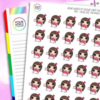Ate Too Much Iris Character Planner Stickers