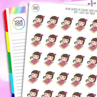 Too Tired Iris Character Planner Stickers
