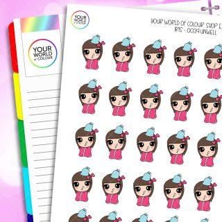 Unwell Iris Character Planner Stickers