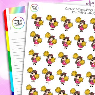 Cheerleader Iris Character Planner Stickers