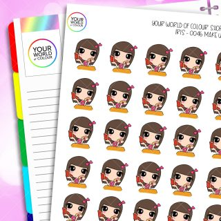 Make Up Iris Character Planner Stickers