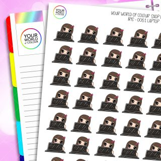 Laptop Character Planner Stickers