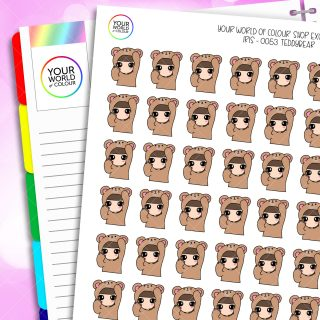 Bear Character Planner Stickers