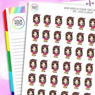 Clean Up Character Planner Stickers
