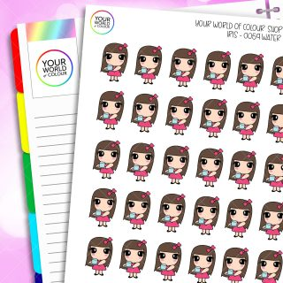 Hydrate Iris Character Planner Stickers