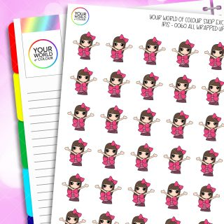 Wrapped Up Iris Character Planner Stickers
