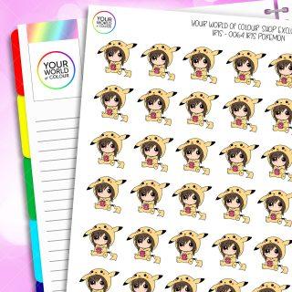 Pikachu Iris Character Planner Stickers