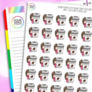Coffee To Go Iris Character Planner Stickers