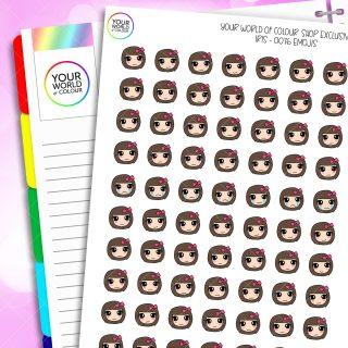 Emoti Iris Character Planner Stickers