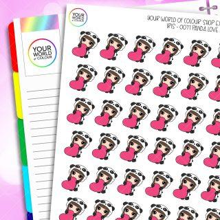 Panda Iris Character Planner Stickers